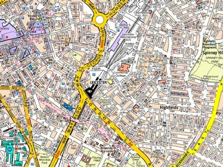 Leicester A Z Wall Map